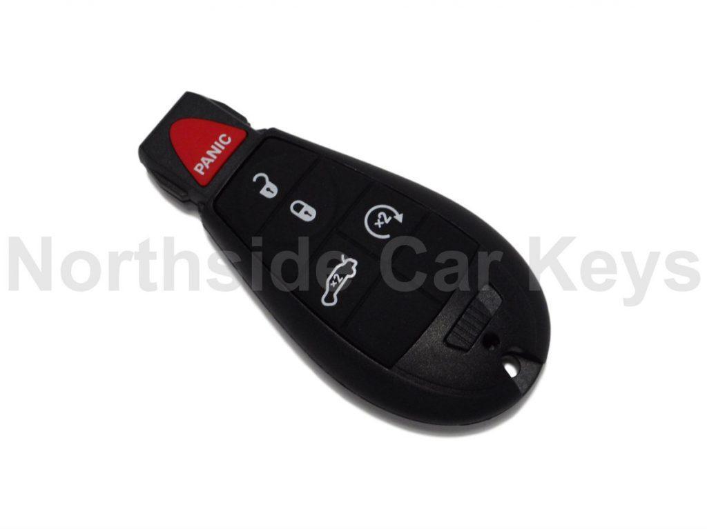 Jeep Fobik slot key 4 buttons + panic (Lock, Unlock, boot and remote start)