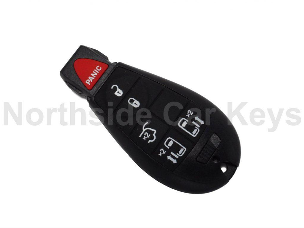 Jeep Fobik slot key 5 buttons + panic (Lock, unlock, tailgate and 2 x side door buttons)