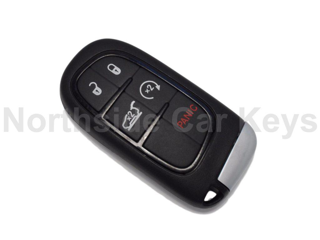 Jeep smart key 4 buttons + panic incl tailgate and remote start buttons